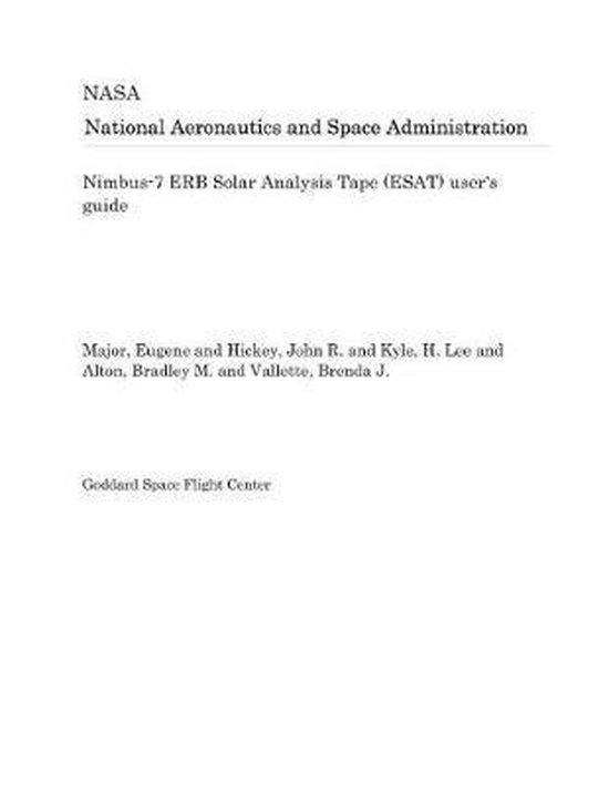 Nimbus-7 Erb Solar Analysis Tape (Esat) User's Guide