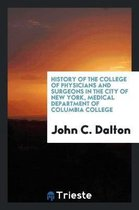History of the College of Physicians and Surgeons in the City of New York, Medical Department of Columbia College