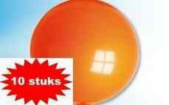 ballon 24 inch 60 cm oranje 10 stuks