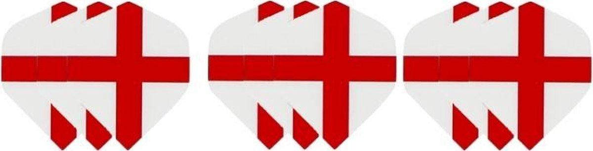 3 sets (9 stuks) Dragon darts Britse St. George Cross dart flights - darts flights