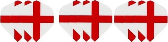 3 sets (9 stuks) Dragon darts Britse St. George Cross  dart flights – darts flights