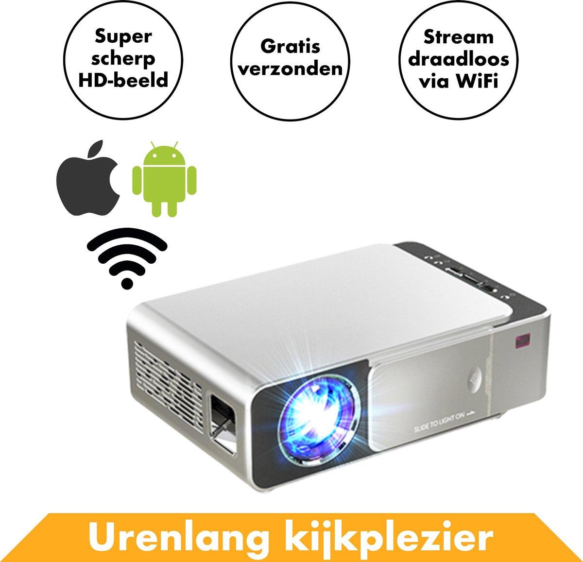 Streaming Beamer Projector Full HD van InRound - Compacte WiFi Projector met Apple & Android functie