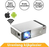 Streaming Beamer Projector Full HD van InRound - Compacte WiFi Projector met Apple & Android functie – Draagbare / portable Mini LCD TV voor films