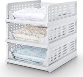 Sens Design maat L set van 3 kast organizer kledingkast organizer kleding opbergbox