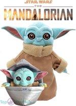 Yoda knuffel set (2 stuks) Baby Yoda 25cm + Yoda 32cm - Pluche Star Wars Plush Joda | Precious Cargo The Mandalorian | Yoda 32cm + Yoda in a floating Pod 25cm