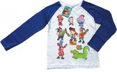 """Disney Jake & The Neverland Pirates - Longsleeve - Model """"All Hens On Deck"""" - Blauw & Wit - 116 cm - 6 jaar - 100% Katoen"""