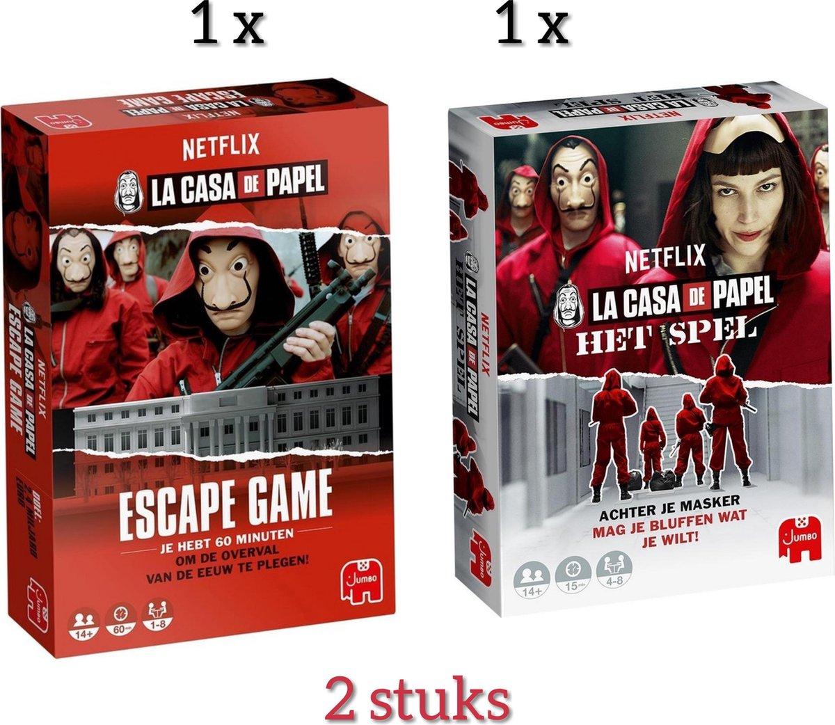 Casa De Papel - Het Spel + Casa De Papel - Escape Game / 2 Stuks