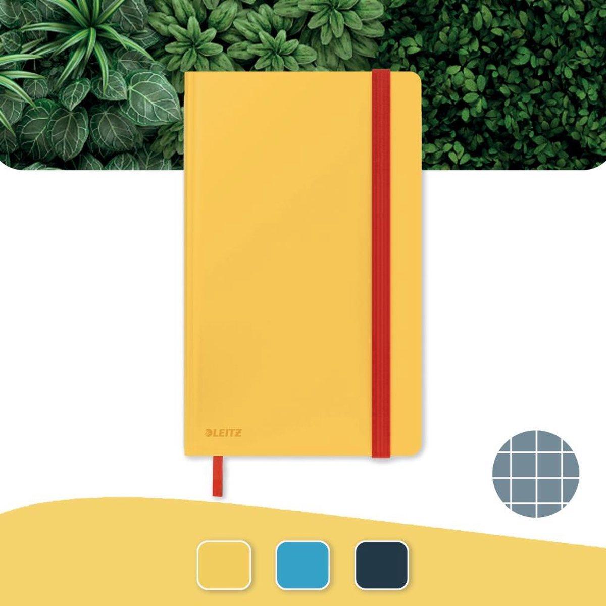 Leitz Cosy Notitieboek A5 Soft Touch Geruit - Notitieboek Hard Cover - Voor Kantoor En Thuiswerken - Warm Geel - Ideaal Voor Thuiskantoor