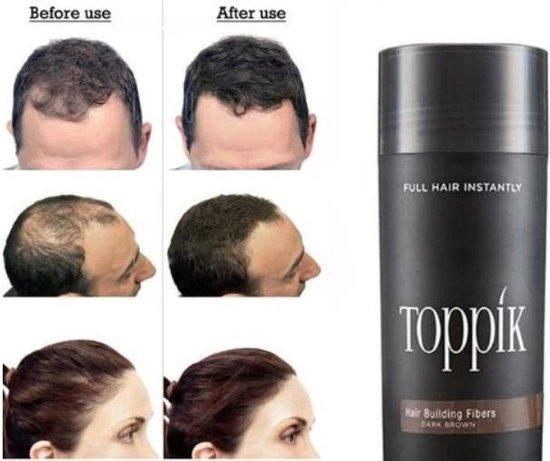 Haargroei vezels Toppik Hair Building Fibers - 27,5 gram - Zwart - Toppik