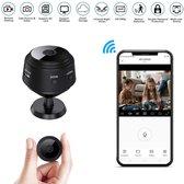 USB oplaadbare Micro Mini Spy bewaking beveiliging -camera- WiFi – HD-draadloos- 1080p, met bewegingsdetectie- nachtzicht - afluister functie- IPhone, IOS, IPad en Android