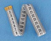 Meetlint - Flexibel - Wit - 150 cm - 1 stuk - Meetlint lichaam - Meetlint kleding - BMI meetlint - Sterk Flexibel meetlint - Naai meetlint - Seca meetlint - Centimeter meetlint - Lichaam meetlint