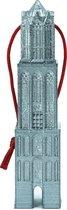 Kerstbal Domtoren Utrecht - kerstboomhanger 3D geprint - Zilver