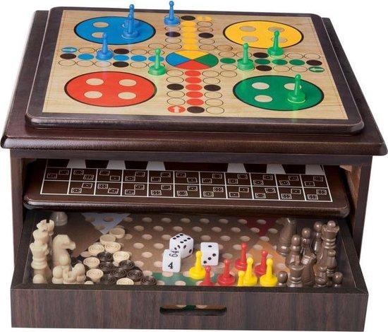 Thumbnail van een extra afbeelding van het spel 10-in-1 verzameling houten spellen - bordspellen - cadeau tip - sinterklaas - kerst - spelplezier - opbergvriendelijk - familiespellen