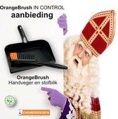 OrangeBrush - Handveger en Stofblik - ACTIESET - GEMAAKT VAN GERECYCLED KUNSTSTOF