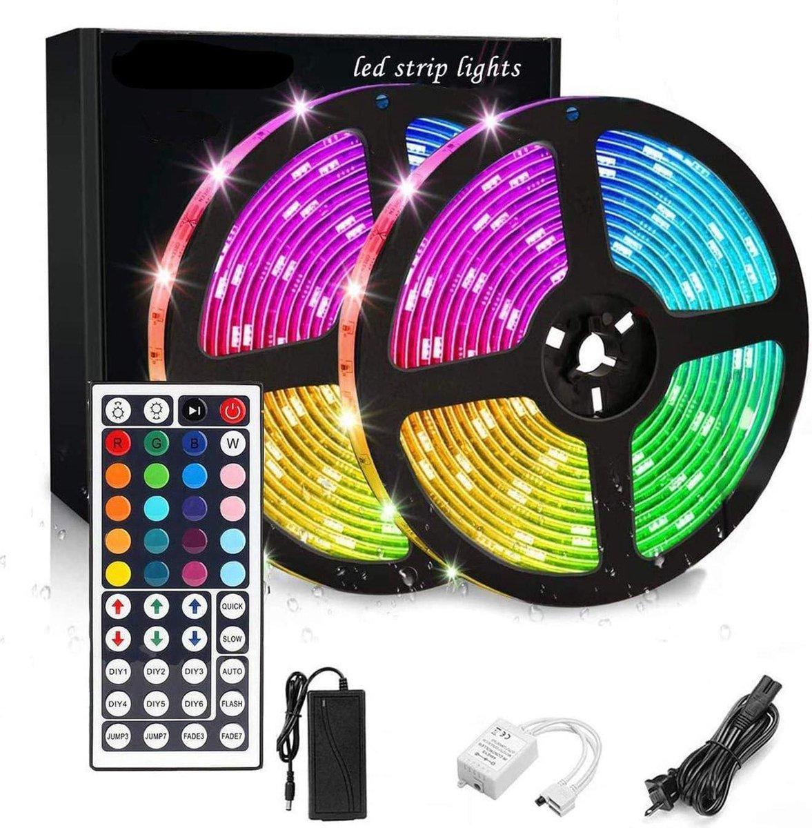 2835 Wick Waterproof LED Light Strip 10 meter - 16 kleuren lichtstrip - dimbaar - inclusief 44 toetsen afstandsbediening