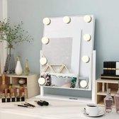 Delorge Make Up Spiegel Met Led Verlichting - Make Up Organizer - Make Up Tafel - Make-up Hollywood Spiegel Met Verlichting - Visagie Spiegel - Vanity Spiegel