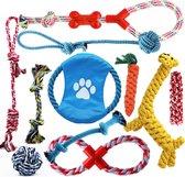 Honden speelgoed set van 11 stuks - speeltjes voor de kleine, grote, puppy's...
