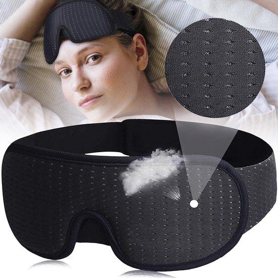 Nedoes™ - Traagschuim Slaapmasker - 100% Verduisterend - Vrouwen - Mannen - volwassenen - Kinderen - Oog Masker - Nachtmasker - Reismasker - Ooglapje - Oogkapje - Slaapbril - Blinddoek - Voor Ogen - Slapen - Slaap - Oogkussen - Meditatie - Cadeau Tip
