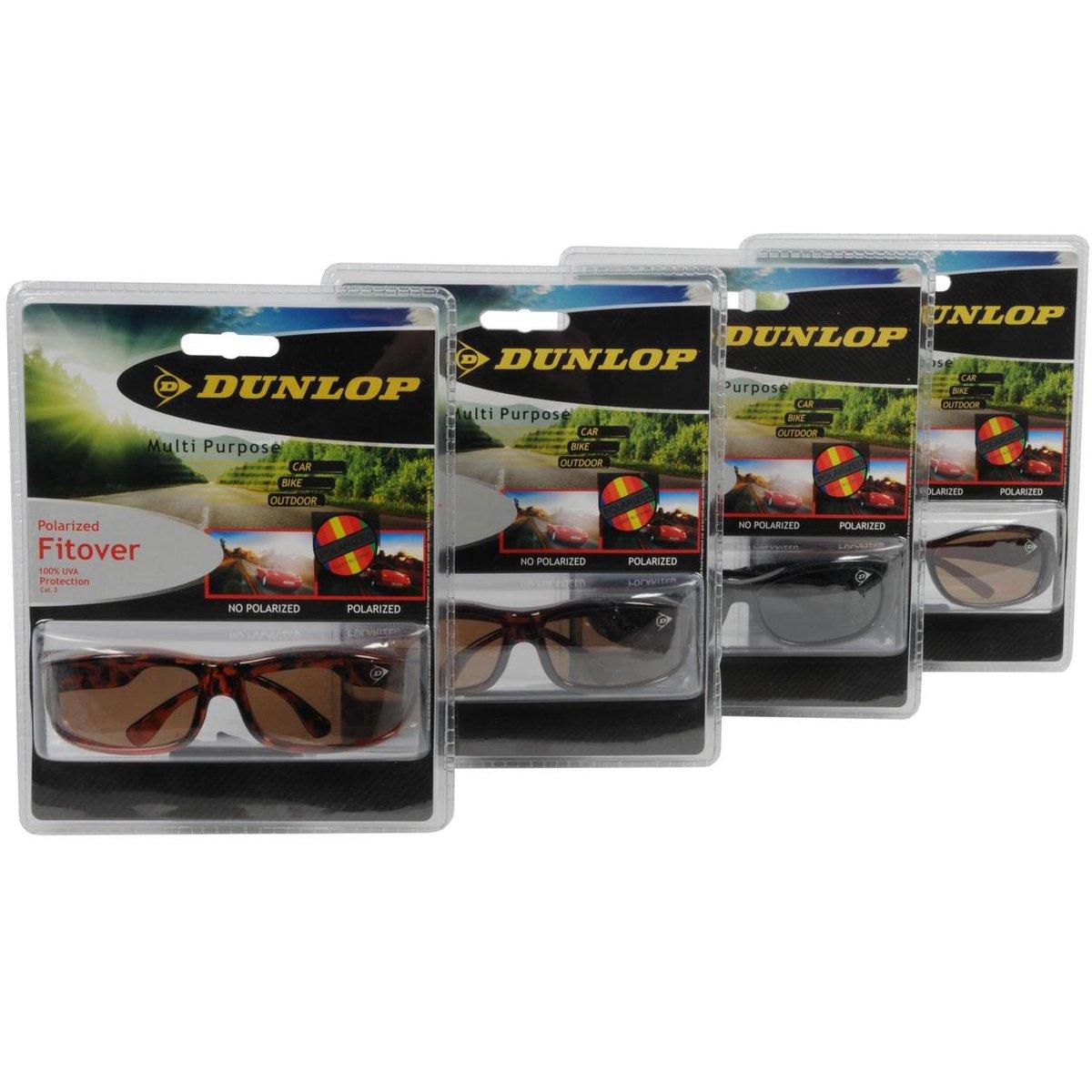 Polarized overzetbril/zonnebril donkerbruin voor volwassenen - Overzet brillen