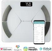 Silvergear Smart Scale met volledige Lichaamsanalyse - Slimme Weegschaal met App - Wit