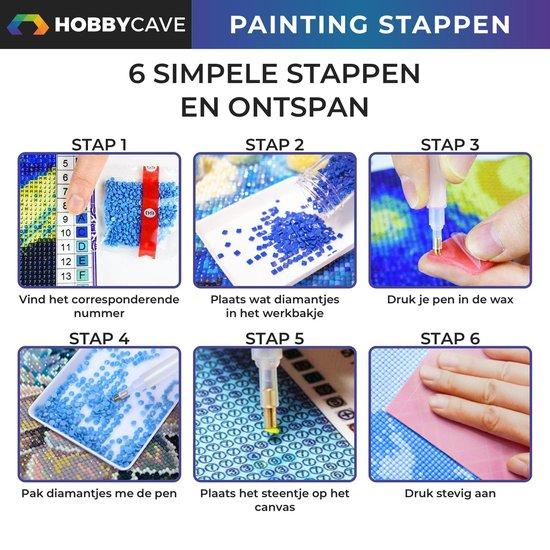 Hobbycave® Diamond Painting Volwassenen En Kinderen - 30x40 - Volledig Pakket - Vierkante Steentjes - Golden Gate