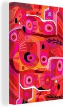 Canvas Schilderijen - Varen in abstracte kunst - 20x30 cm - Wanddecoratie