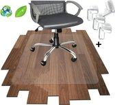 Luxergoods bureaustoelmat PVC - Grotere maat - 120x150cm - Inclusief Hoekbeschermers - Vloerbeschermer - Beschermt harde vloer