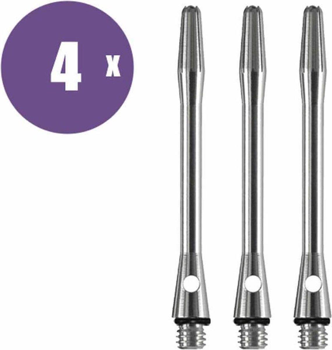 ABC Darts Shafts - Aluminium Naturel - Medium - 4 sets dartshafts