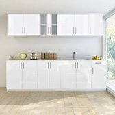 vidaXL 8-delige Keukenkastenset 260 cm hoogglans wit