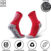 MyStand® Gripsokken Voetbal Sport Grip Sokken Anti Blaren Unisex One Size - Rood