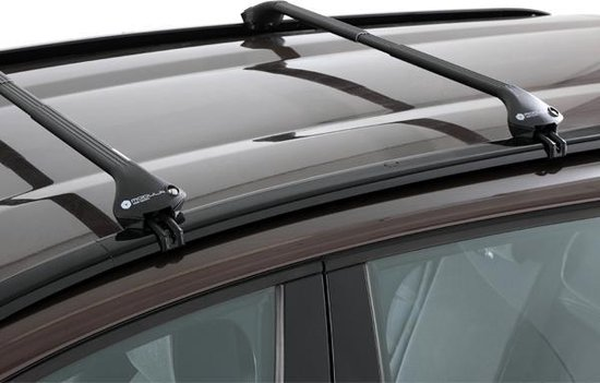 Modula dakdragers Opel Crossland X 5 deurs SUV vanaf 2017 met geintegreerde dakrails