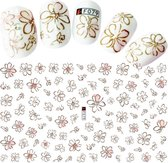 Nagel Stickers Nail Art 3D Bloem - Nagelversiering - Decoratie Stickers - Nagelfolie - 92 stickers