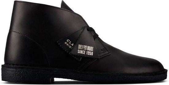 Clarks Desert boots Desert Boot Leather Zwart Maat:44