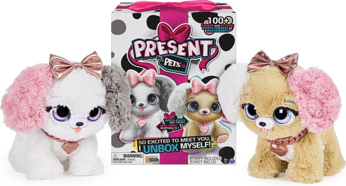 Present Pets Fancy Puppy - Interactief speelgoeddier met meer dan 100 geluiden en acties (stijl kan