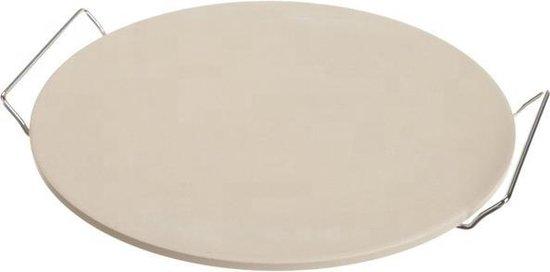 Pizzasteen met Serveerrek – Ø 33 cm