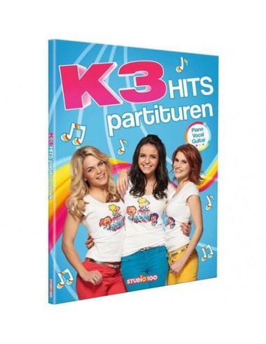 Boek cover K3 Hits partituren van Gert Verhulst (Hardcover)