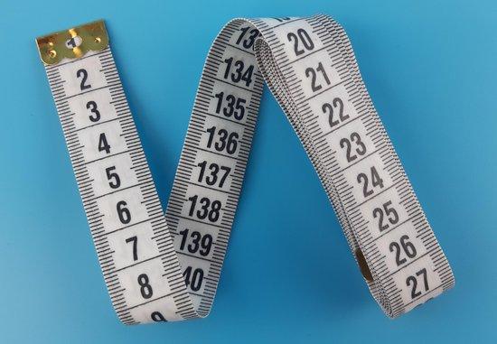 Afbeelding van Meetlint - Flexibel - Wit - 150 cm - 1 stuk - Centimeter meetlint