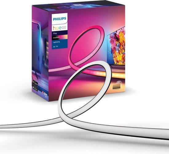 Philips Hue Play Gradient Lightstrip 55 inch - Televisie - Zwart - 20W - incl. Voeding en steunen