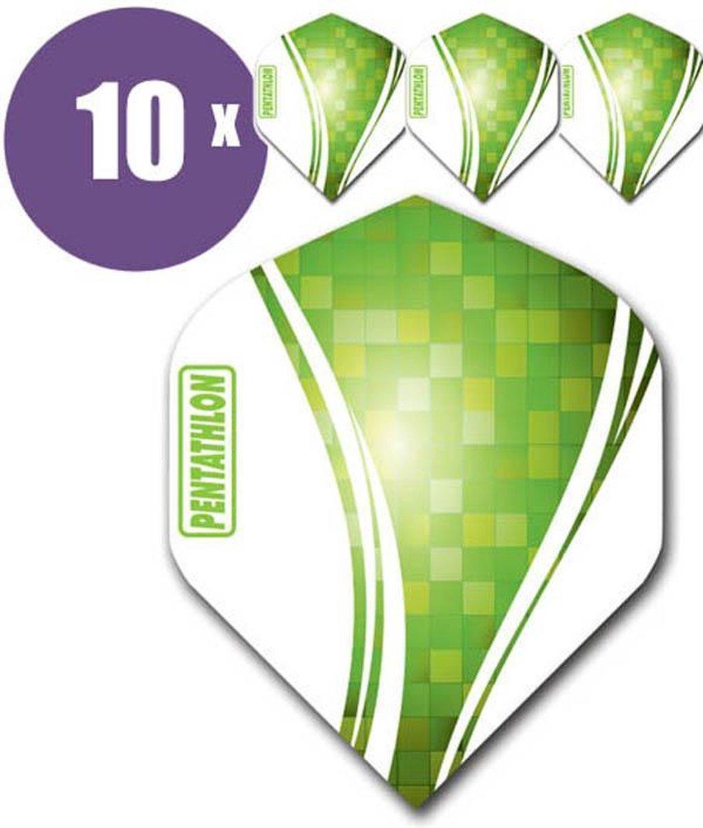 ABC Darts Flights Pentathlon Wave 10 sets (30 Dart Flights) - Groen