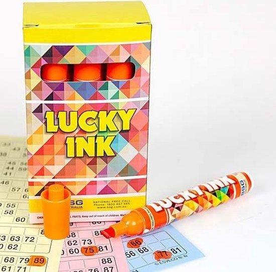 Afbeelding van het spel Bingostiften Lucky Ink 12 stuks - Oranje