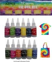 Tie Dye Kit Verf - 12 kleuren - Tie dye verf set - Tie dye set - Batik Verf Paket - Tie-Dye Ontwerpstudio - Tye Dye
