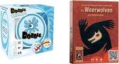 Spellenbundel - Kaartspel - 2 stuks - Dobble Beach Waterproof & De Weerwolven van Wakkerdam