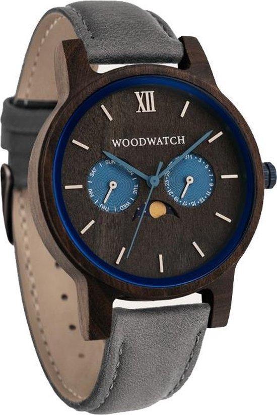 De officiële WoodWatch | Indigo Grey | Houten horloge