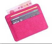 Mersa Mini Pasjeshouder Vrouwen portemonnee Creditcard wallet Dames Roze