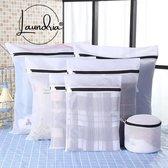 Laundria® Waszakken – Waszak - Hoge Kwaliteit Waszakken - Set van 7 stuks – Waszakken met Rits – Wasgoed - Packing cubes - Bh waszakje – Waszakken Groot
