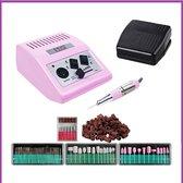 Nagelfrees JD500 35Watt- roze incl.111 delige nagelfrees bitjes en schuurrolletjes set.