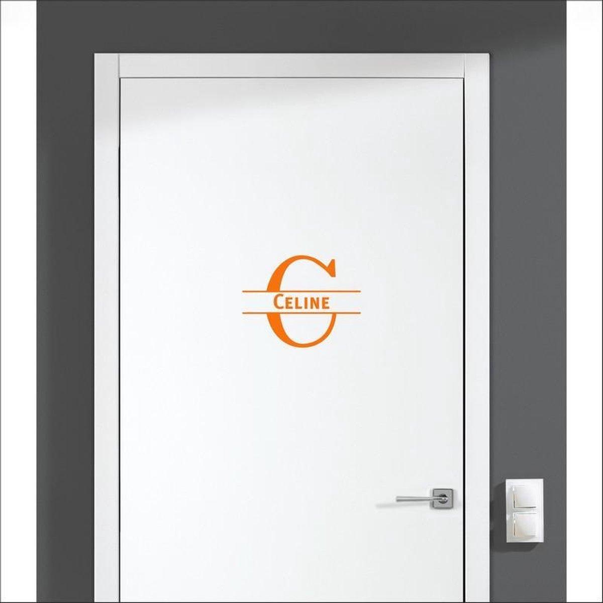Deursticker Met Naam -  Celine - Oranje