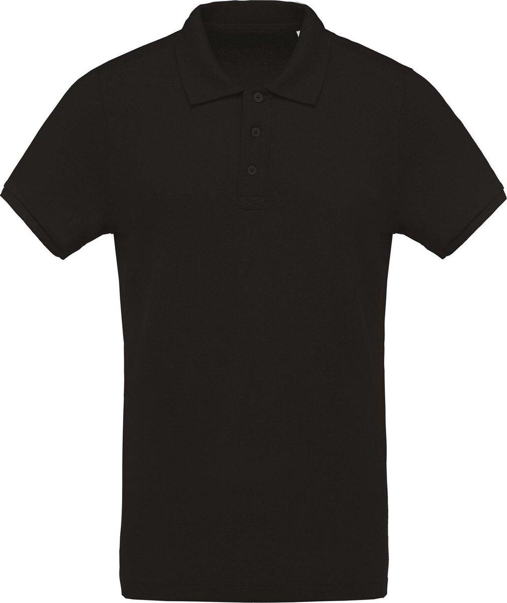 Kariban Menselijk Biologisch Pique-Pique-Poloshirt (Zwart)