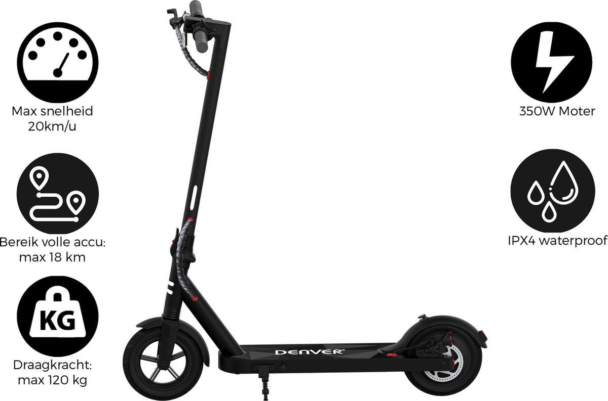"Denver SEL-85350 - Elektrische step - 8.5"" Banden - E-Step met aluminium frame - E-Scooter - Zwart"