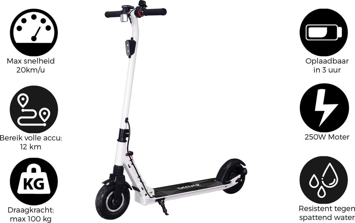 "Denver SEL-80125 - Elektrische step - 8"" Banden - E-Step met aluminium frame - E-Scooter - Wit"